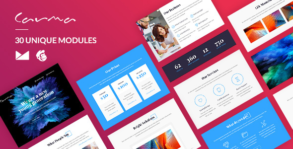 Carma Email-Template + Online Builder