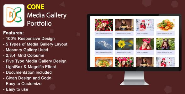 CONE - Media Gallery Portfolio Download