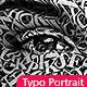 Typography Portrait Photoshop Action - GraphicRiver Item for Sale