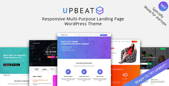 Upbeat - Multi-Purpose Landing Page WordPress Theme