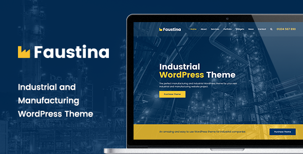 Faustina - Industrial WordPress Theme