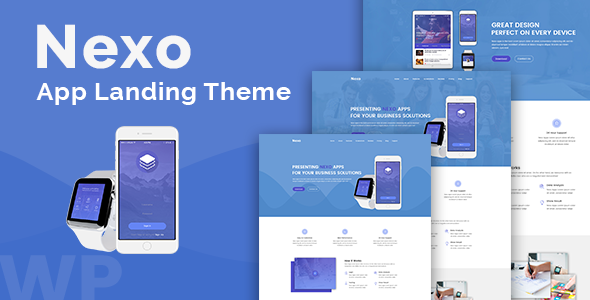 Nexo – Multipurpose Landing Page Theme Free Download