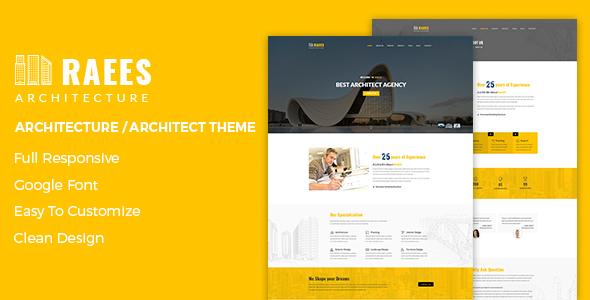 Raees – Creative Responsive Architecture Theme