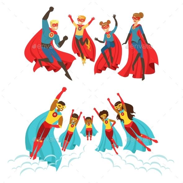 Family of Superheroes Set