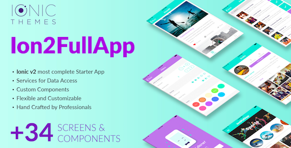 Ion2FullApp - Full Ionic Template for Ionic 3+ Download