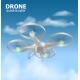Realistic Remote Air Drone Quadrocopter Flying - GraphicRiver Item for Sale