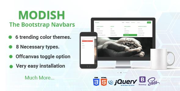 Modish - The Bootstrap Navbars Download