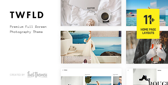 TwoFold - Fullscreen Photography WordPress Theme