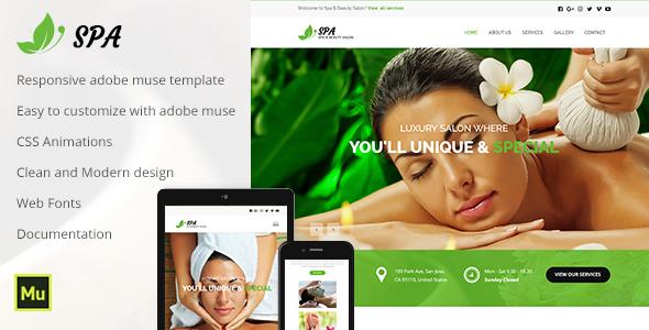 Spa - Responsive Spa & Beauty Template