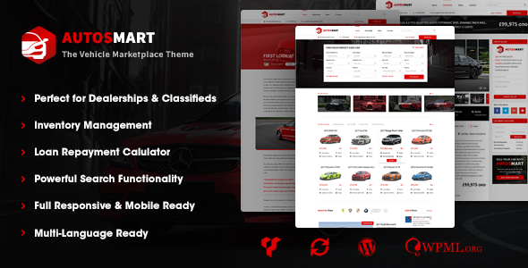 AutosMart - Automotive Car Dealer WordPress Theme