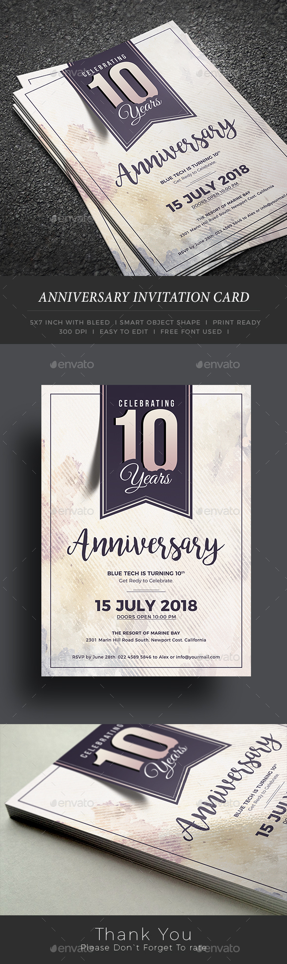 Anniversary Card Designs & Templates from GraphicRiver
