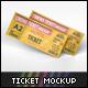 Cinema Ticket Mockup - GraphicRiver Item for Sale