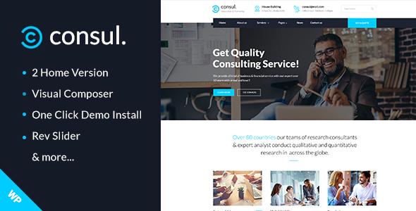 Consul -  Professional Services WordPress Theme