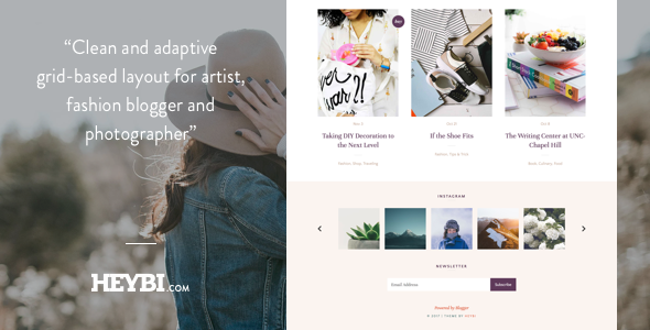 Demi: Grid-Based Blog Template