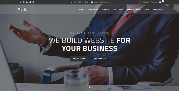 Multi – Onepage Business Template