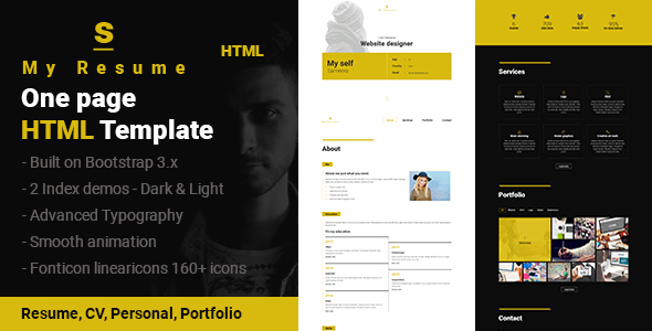 1 Page Cv Template from previews.customer.envatousercontent.com