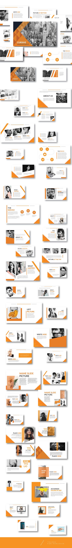 Modern Orange Multipurpose Template Powerpoint