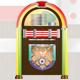 1950s Glossy Retro Jukebox - GraphicRiver Item for Sale