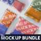 Snack Foil Bag Mockup Bundle - GraphicRiver Item for Sale