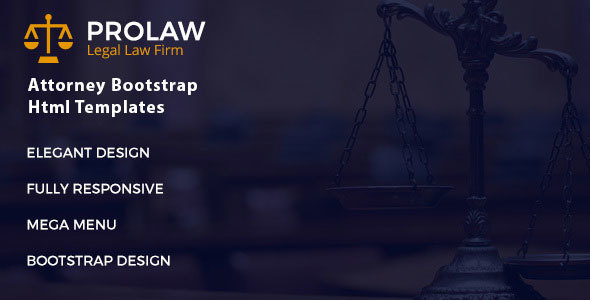 Prolaw Legal Law Firm - Attorney Bootstrap HTML Template
