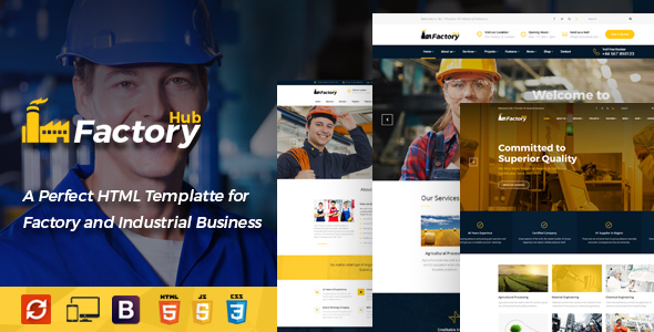 Factory HUB - Engineering and Industrial HTML Template