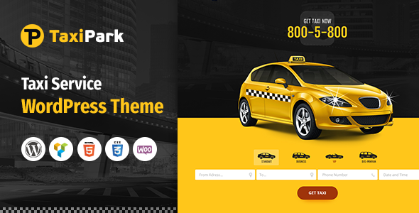 Taxi Park - Taxi Cab Service Company WordPress Theme