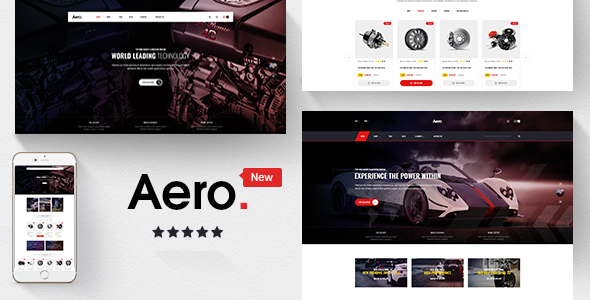 Aero - Car Accessories Responsive Prestashop 1.7 Theme