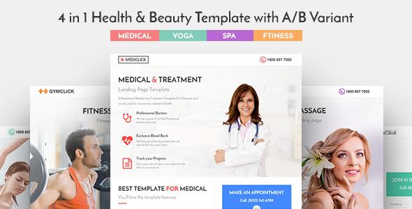 Mediclick - Medical Landing Page WordPress Theme