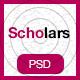 Scholars - Education, University & LMS PSD Template - ThemeForest Item for Sale