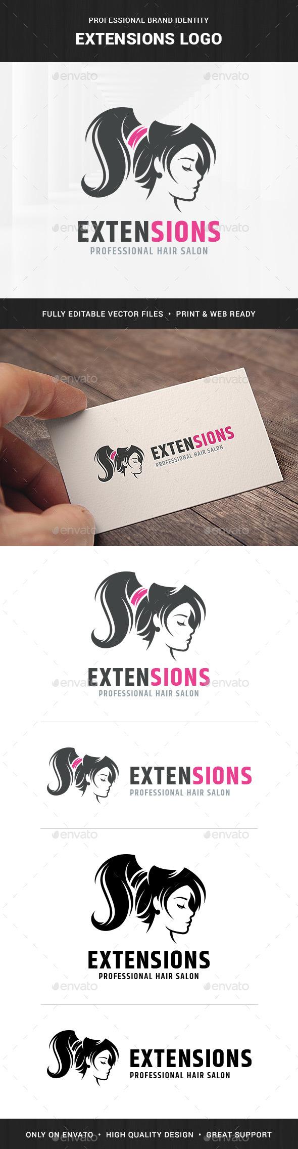 Extensions Hair Salon Logo