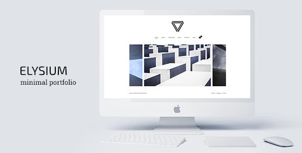 Elysium - Minimal WordPress Portfolio Theme