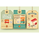 Street Food Festival Price Tags - GraphicRiver Item for Sale