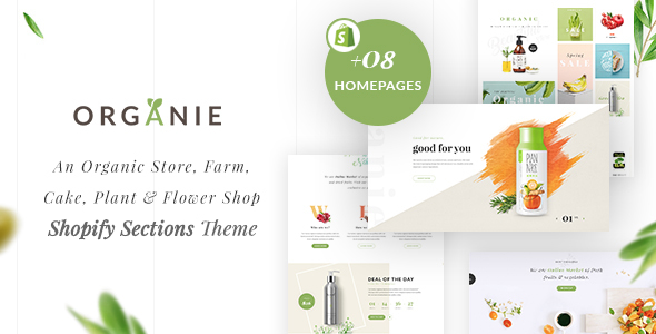 Organie - An Organic Store, Farm, Cake and Flower Shopify Sections Theme