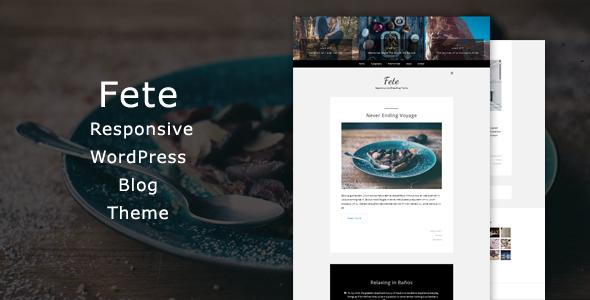 Fete - Responsive WordPress Blog Theme