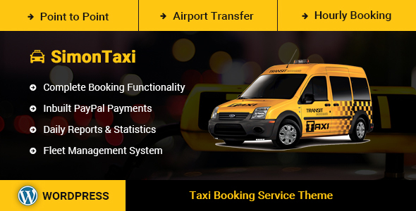 SimonTaxi - Taxi Booking WordPress Theme
