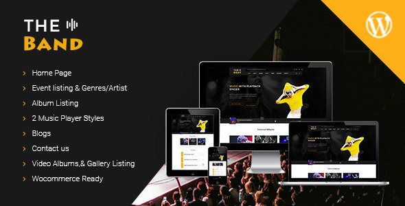 TheBand Music WordPress Theme