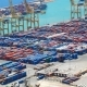 Container Port Ship Aerial - VideoHive Item for Sale