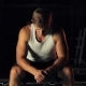 Man Lifting Up Head in Darkness - VideoHive Item for Sale