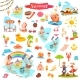 Fishing Ice Cream Summer and Sushi Items - GraphicRiver Item for Sale