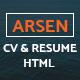 ARSEN - CV/RESUME - HTML Template - ThemeForest Item for Sale