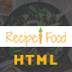 Recipe & Food - Bootstrap Template - ThemeForest Item for Sale