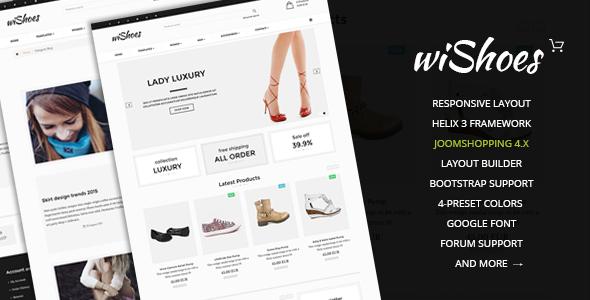 wiShoes-Multipurpose Joomla eCommerce Template