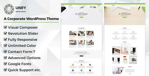 Unify- Corporate WordPress Theme