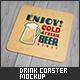 Drink Coaster Mock-Up - GraphicRiver Item for Sale