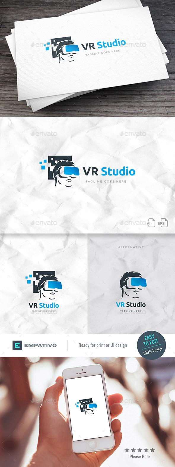 VR Studio Logo Template