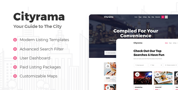 Cityrama - Listing & City Guide Theme