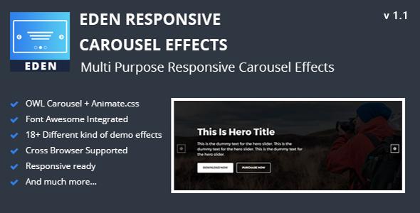 Eden - Responsive Carousel Effects Download
