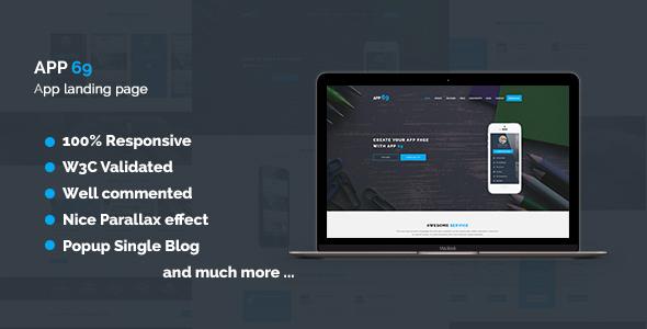 App 69 - App Landing Page HTML5 Template
