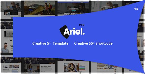 Ariel - Multi-Purpose PSD Template