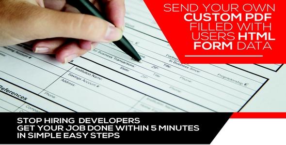 Form Generating PDF -  Wordpress plugin Download